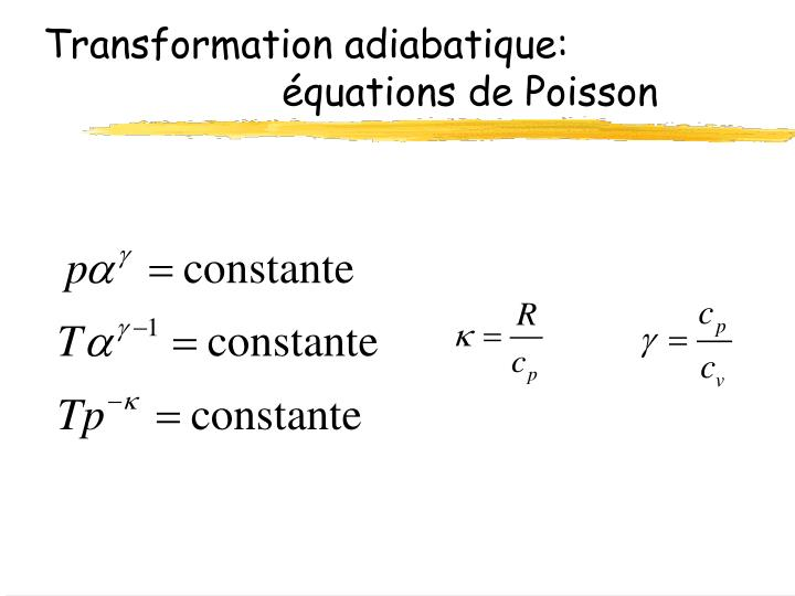 Transformation adiabatique: