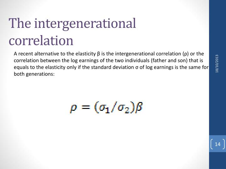The intergenerational