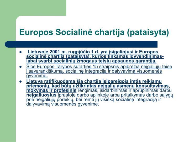 Europos Socialinė chartija (pataisyta)