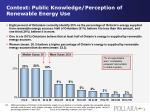 context public knowledge perception of renewable energy use