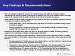 key findings recommendations