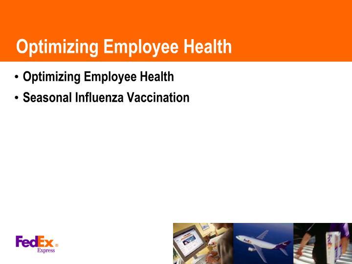 Optimizing Employee Health