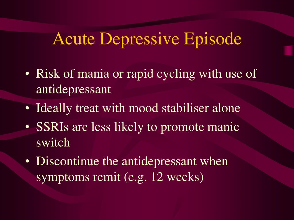 PPT - Management of Bipolar Affective Disorders PowerPoint ...