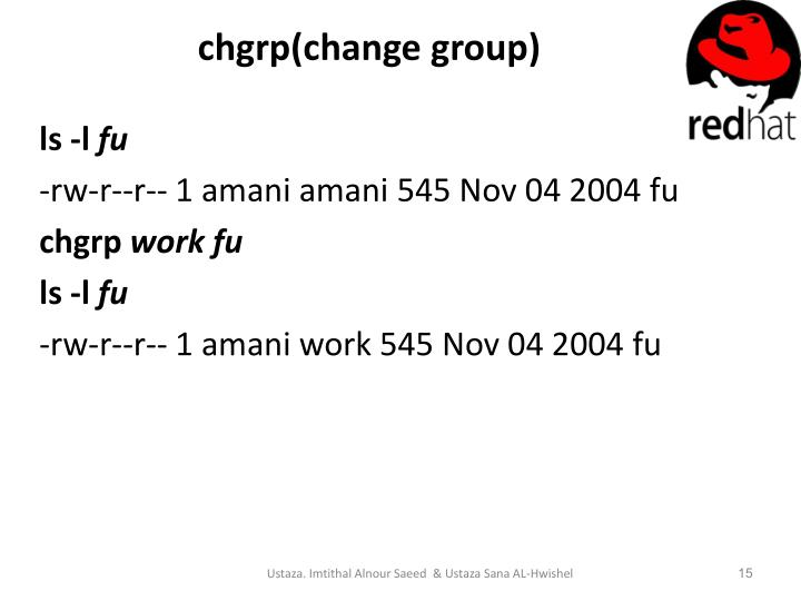 chgrp(change group)