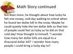 math story continued