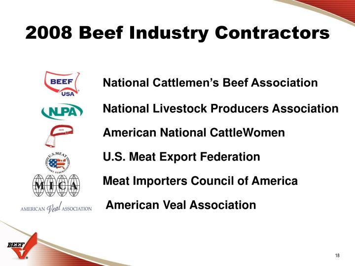 2008 Beef Industry Contractors