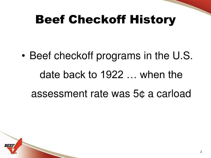 Beef checkoff history