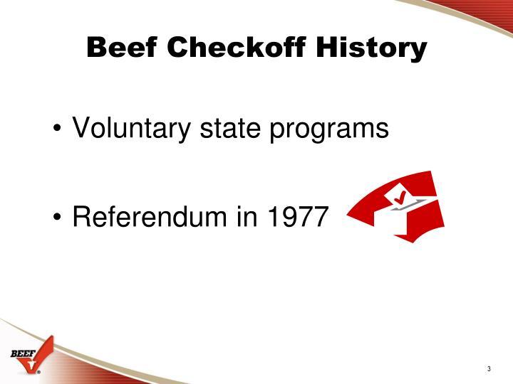 Beef checkoff history1