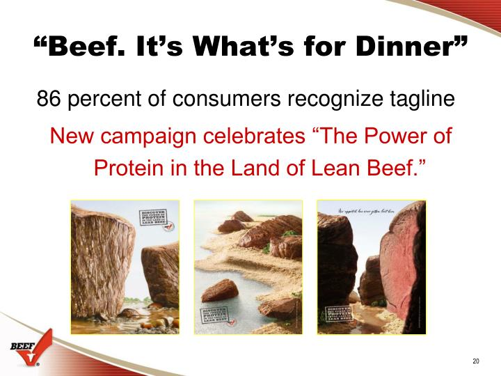 """""""Beef. It's What's for Dinner"""""""