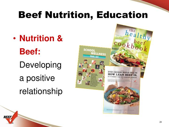 Beef Nutrition, Education