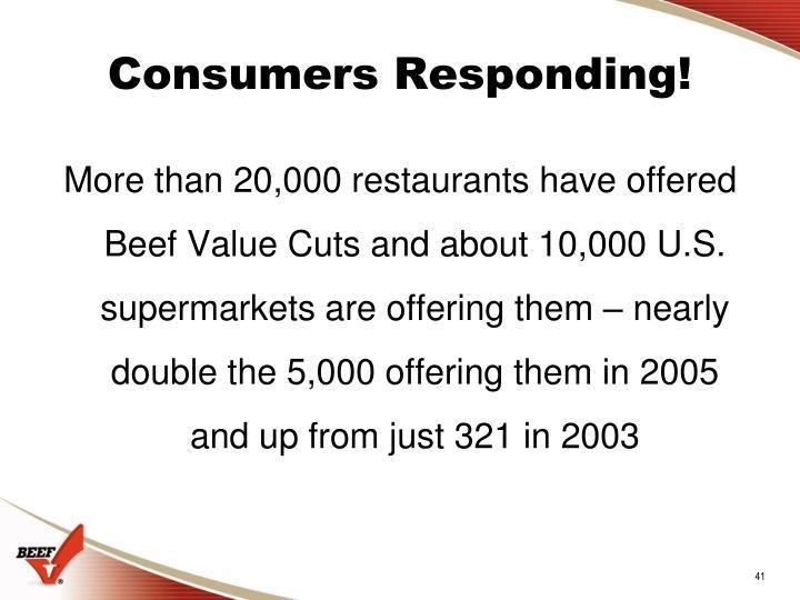 Consumers Responding!