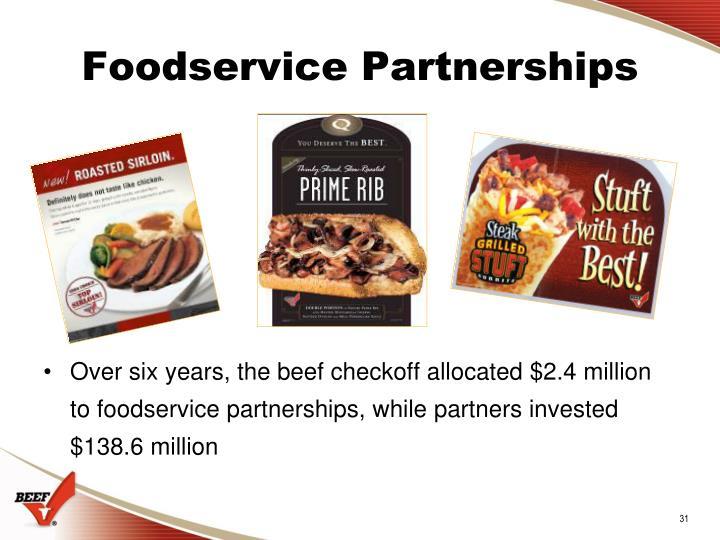 Foodservice Partnerships
