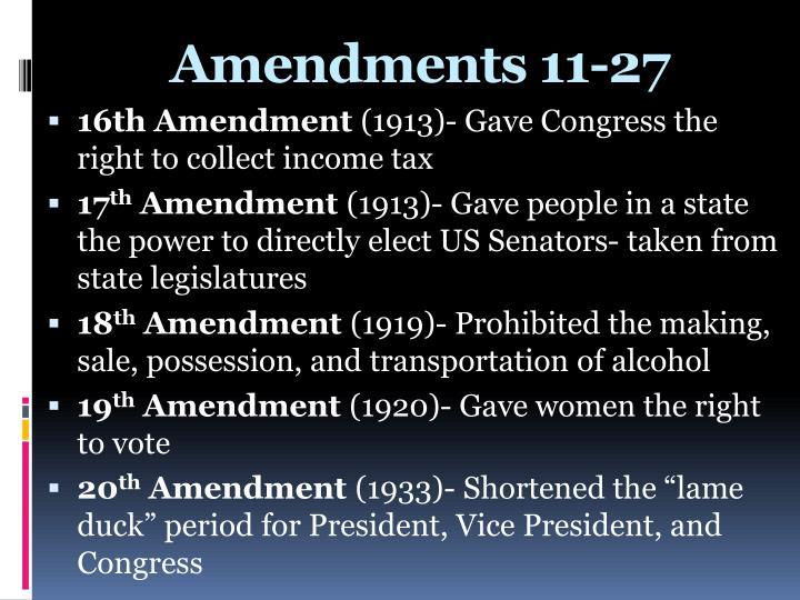 PPT - Amendments 11-27 PowerPoint Presentation - ID:7095453