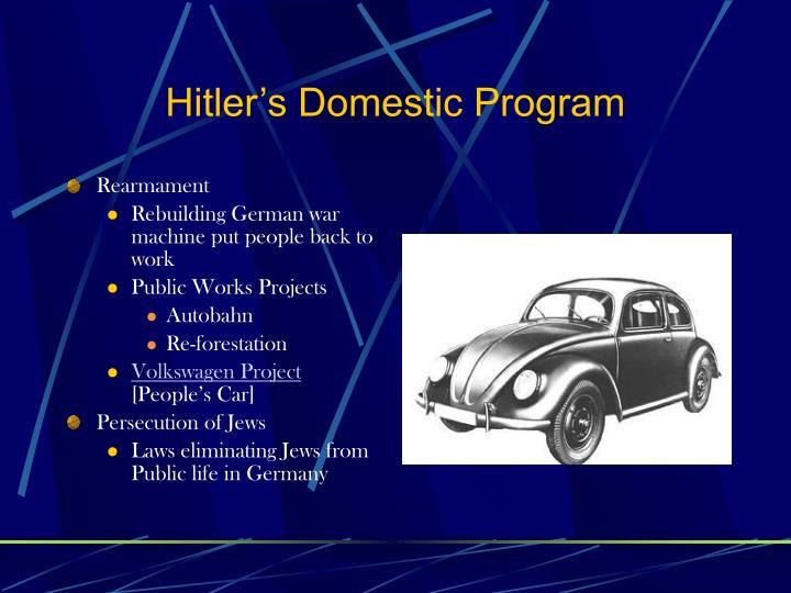 Hitler's Domestic Program