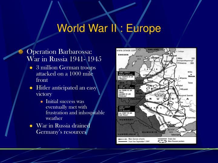 World War II : Europe
