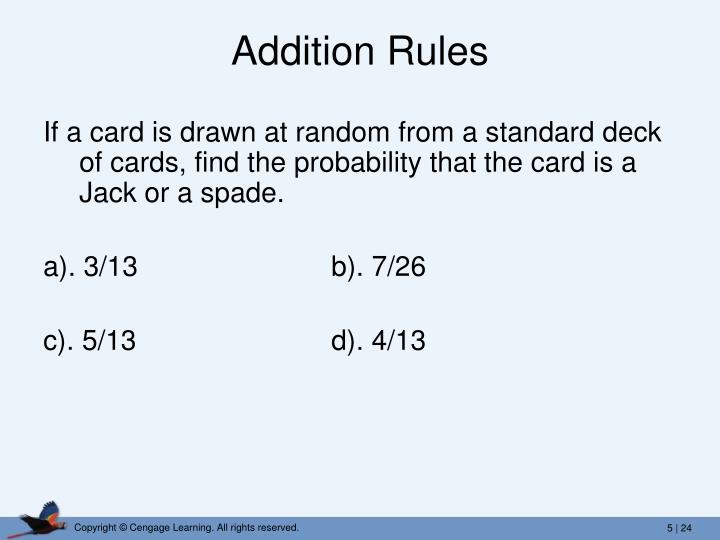 Addition Rules