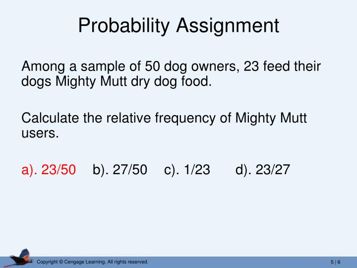 Probability Assignment