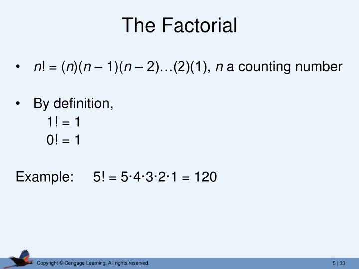 The Factorial