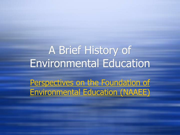 the adoption of environmental technologies University of maryland university college offers a envm course, emerging environmental technologies (envm 644), toward online degrees and certificates.