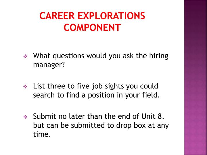 Career Explorations