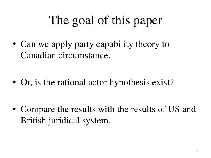 The goal of this paper