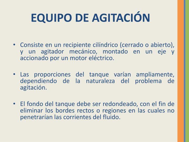 EQUIPO DE AGITACIÓN
