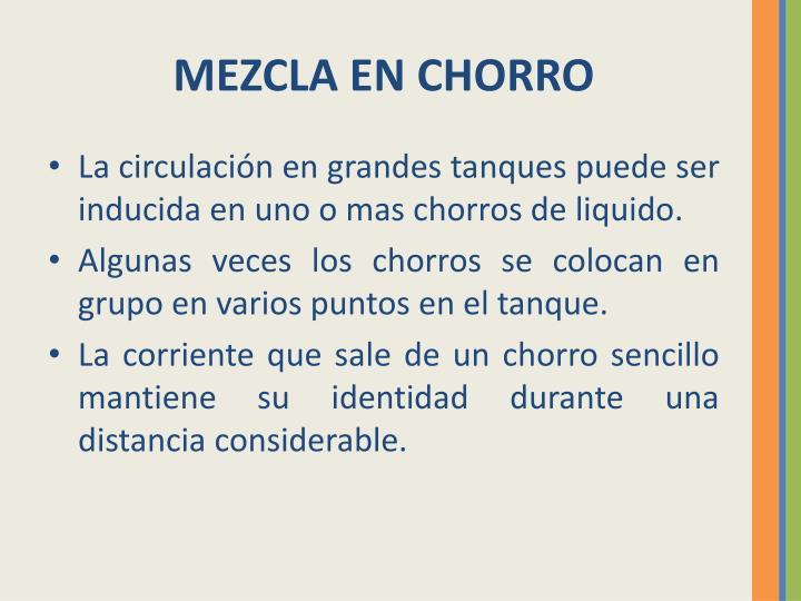 MEZCLA EN CHORRO