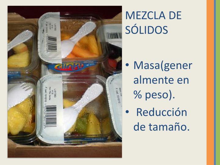 MEZCLA DE SÓLIDOS