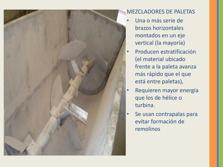 MEZCLADORES DE PALETAS