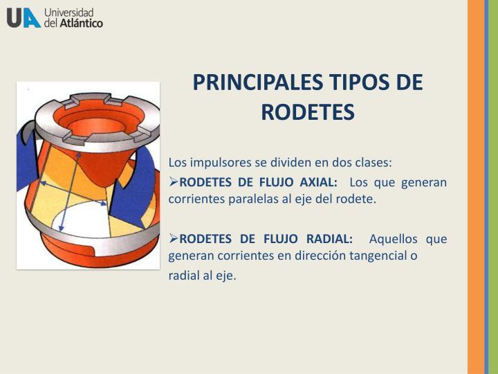 PRINCIPALES TIPOS DE RODETES