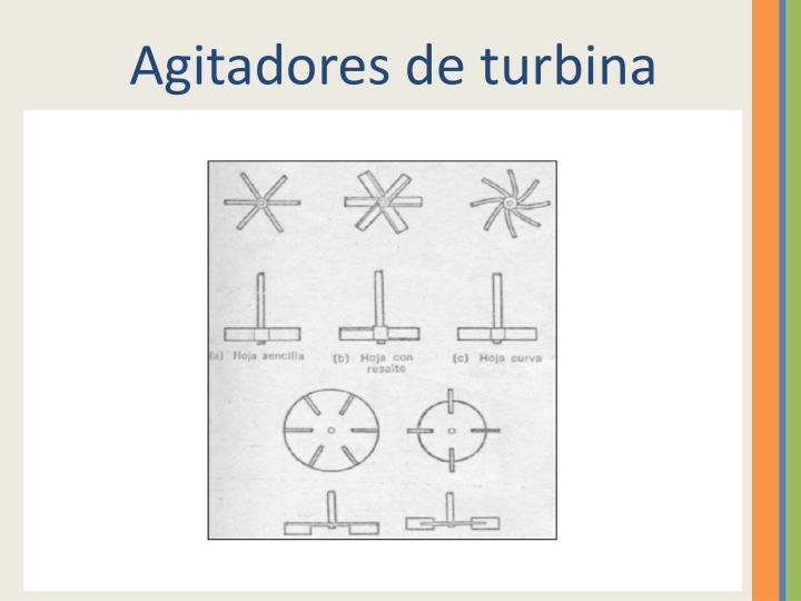 Agitadores de turbina