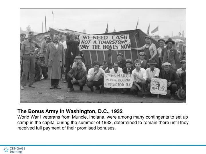 The Bonus Army in Washington, D.C., 1932