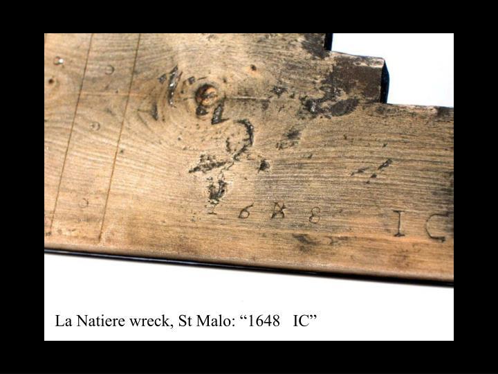 """La Natiere wreck, St Malo: """"1648   IC"""""""