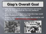 giap s overall goal