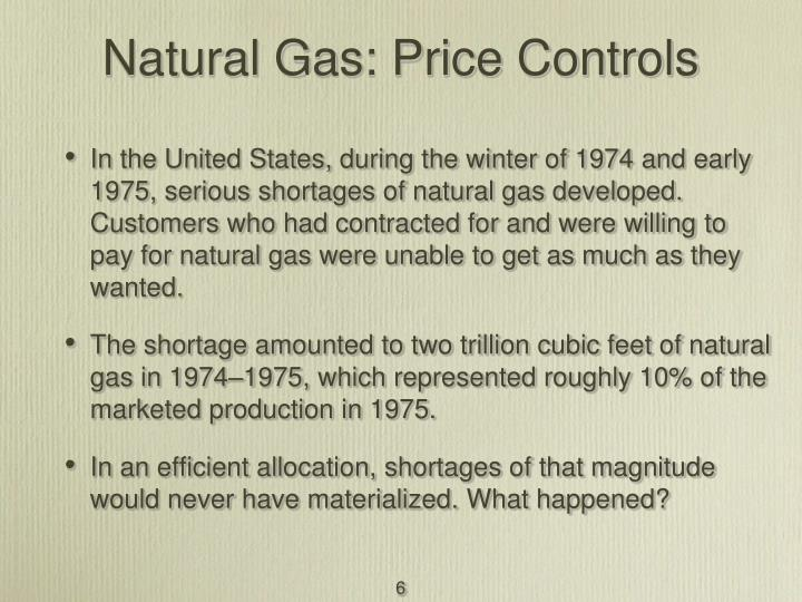 Natural Gas: Price Controls