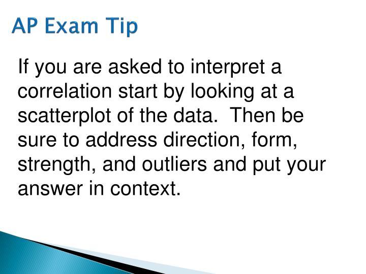 AP Exam Tip