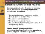 derechos humanos de las mujeres