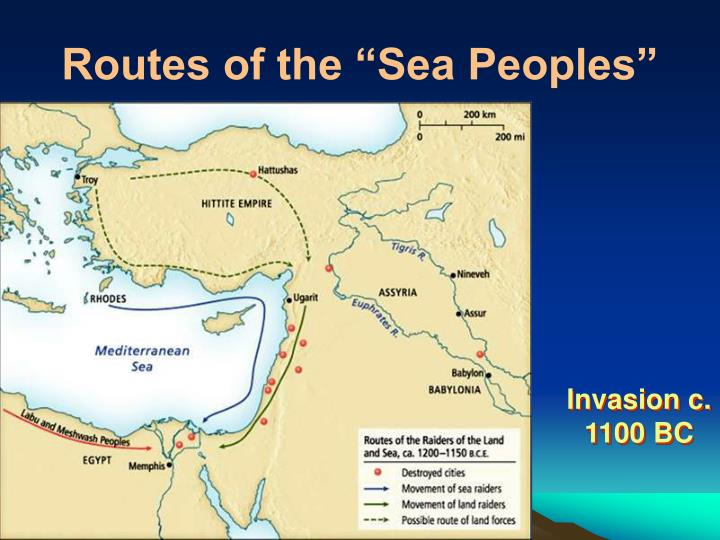 """Routes of the """"Sea Peoples"""""""