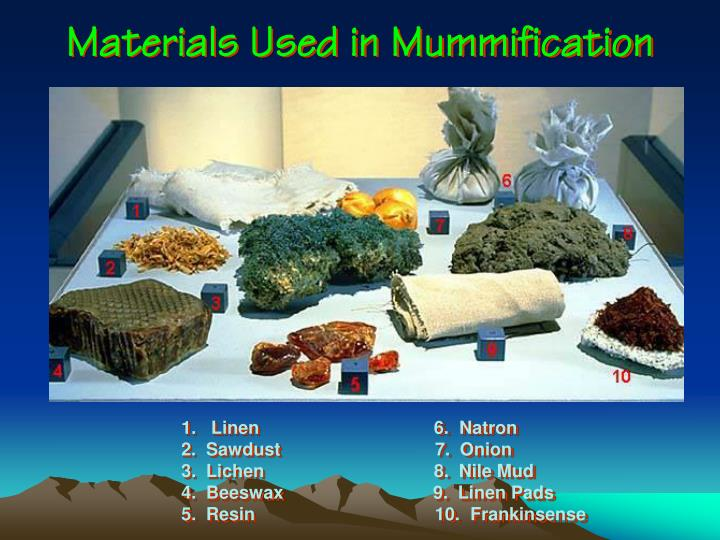 Materials Used in Mummification