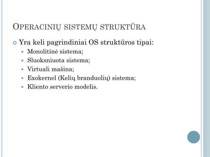 Operacinių sistemų struktūra
