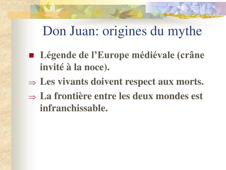 Don Juan: origines du mythe