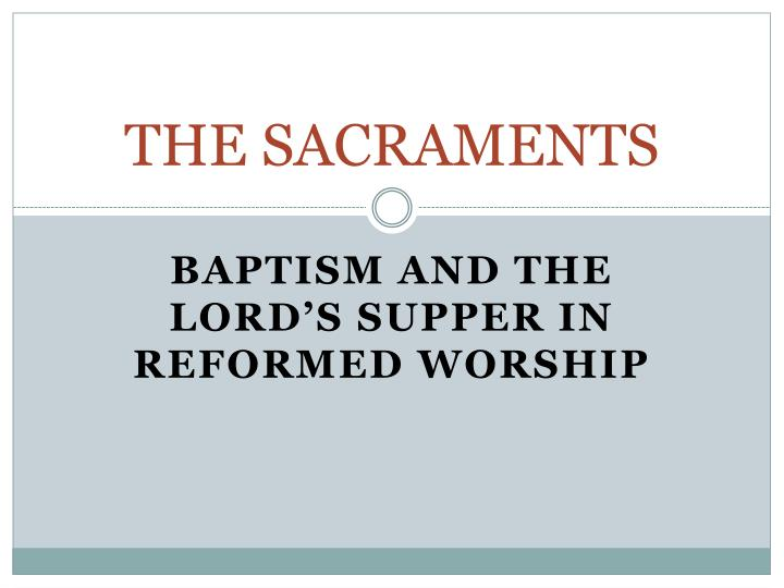 the sacraments n.
