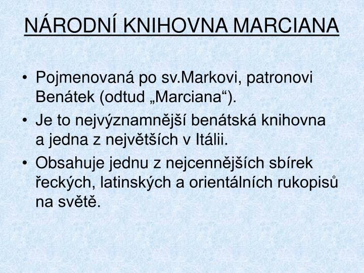 N rodn knihovna marciana1