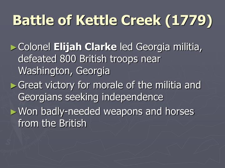 Battle of Kettle Creek (1779)