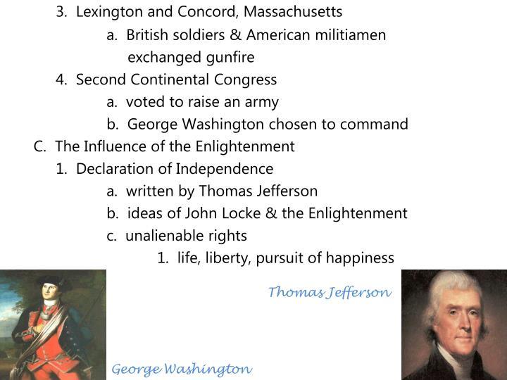3.  Lexington and Concord, Massachusetts
