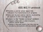 ieee 802 11 protocol