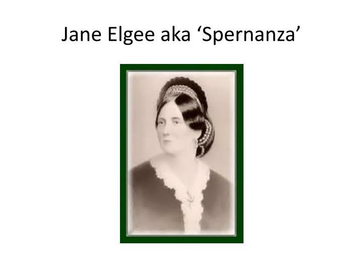 Jane Elgee aka '
