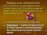 debate over constitution
