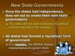 new state governments