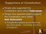 supporters of constitution